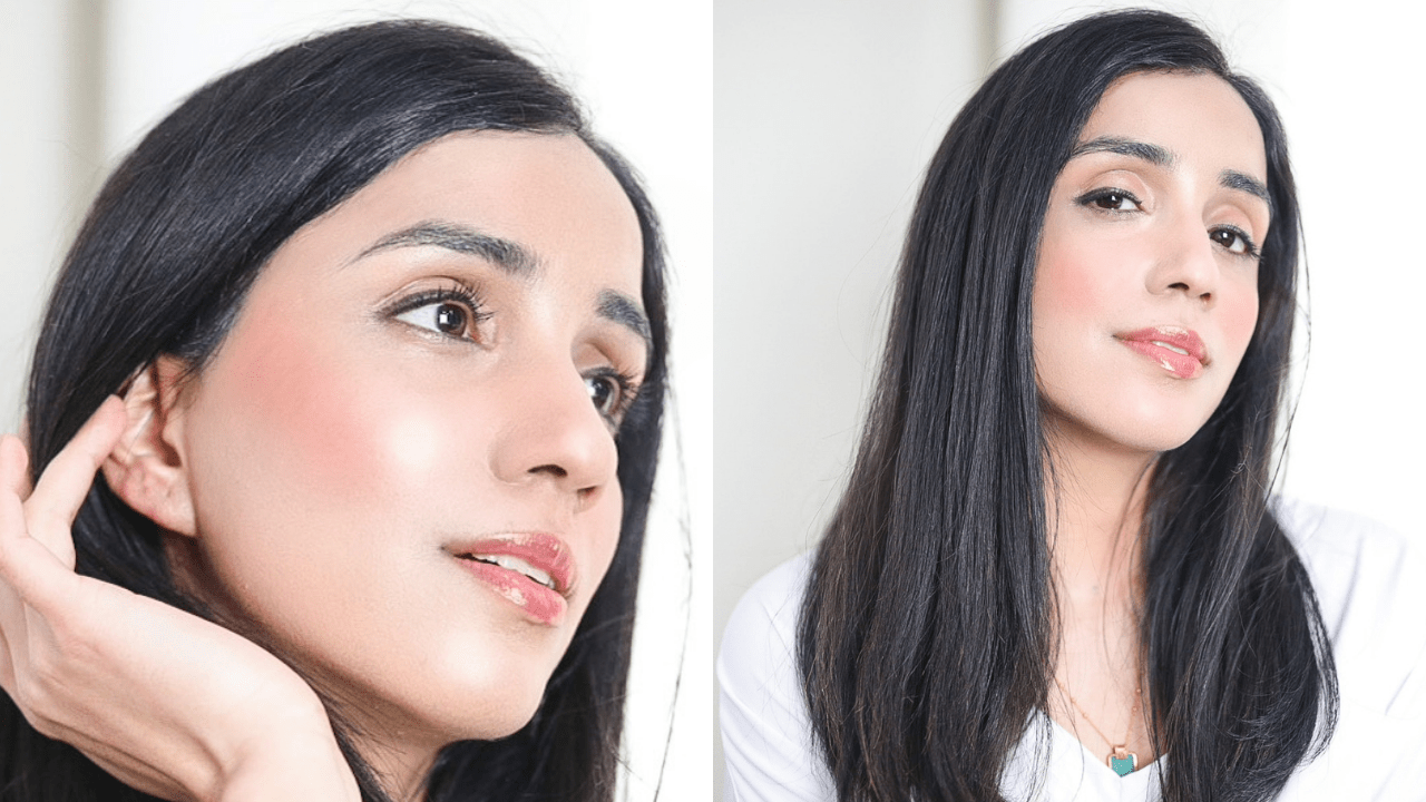 Glass Skin Look Makeup Look Skincare routine Faiza Inam123