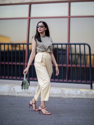 Under $50 Trends That Won't Disappoint This Summer army green yellow combination color street style faiza inam pinterest summer look 1