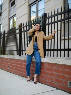 Under $50 Trends That Won't Disappoint This Summer blazer beige camel zara jeans classic look expensive look Faiza Inam pinterest 1