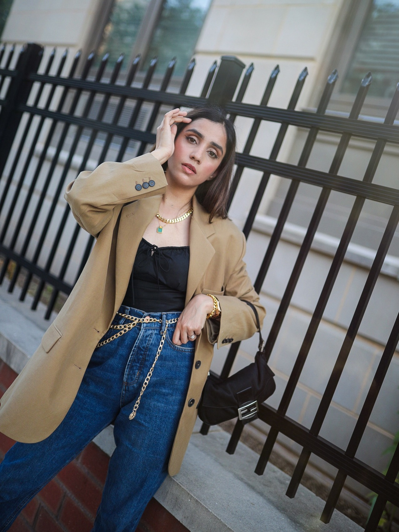 Under $50 Trends That Won't Disappoint This Summer blazer beige camel zara jeans classic look expensive look Faiza Inam pinterest 3