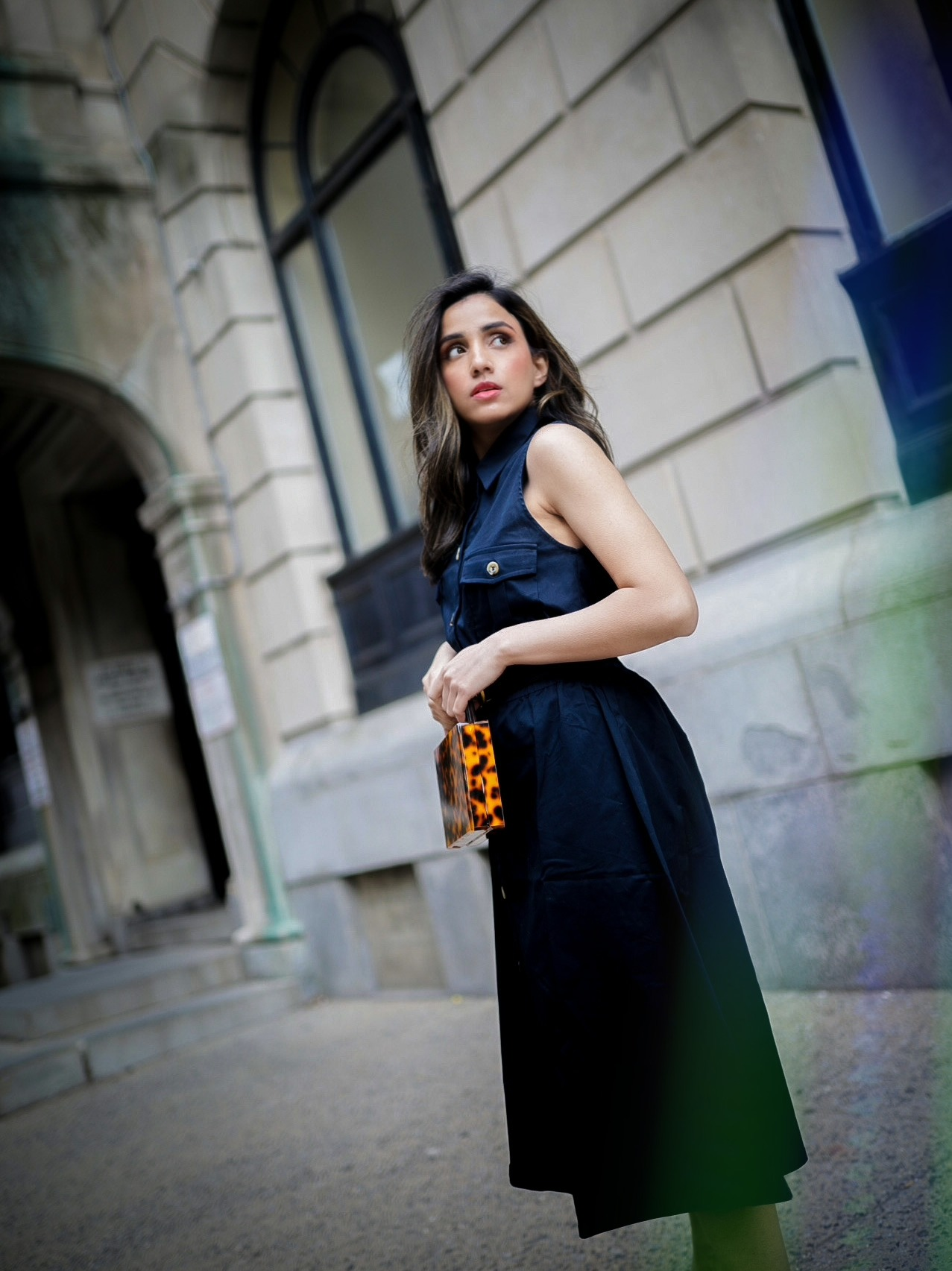 Under $50 Trends That Won't Disappoint This Summer neutral navy spring summer dress street style look Faiza Inam pinterest 1