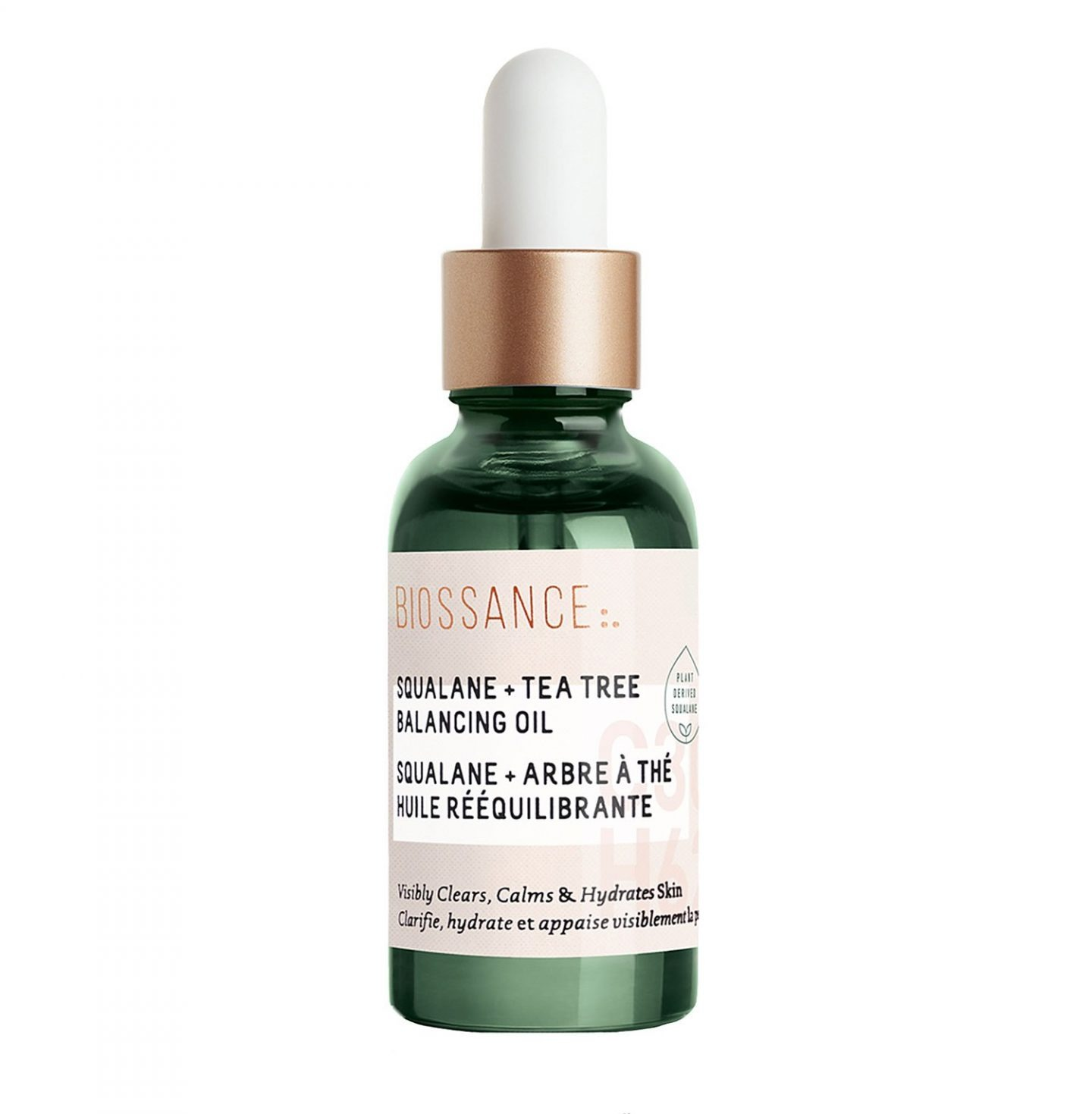 best 5 facial oils for all skin types Biossance Squalane + Tea Tree Balancing Oil